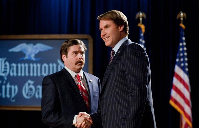 Зак Галифианакис и Уилл Феррелл в комедии «Грязная кампания за честные выборы»